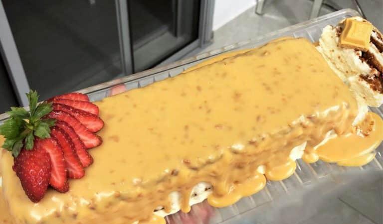 מתכון לעוגת לוטוס בלונדי עם שוקולד יולו – בר חנינה